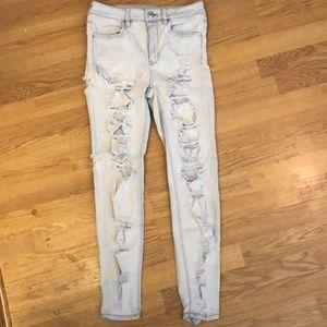 AEO high waisted skinny jeans